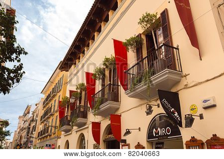 Facade In The City Of Palma De Mallorca