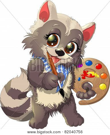raccoon artist