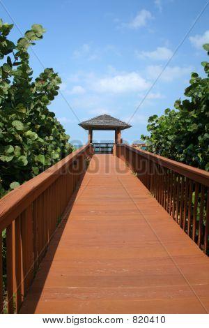 Long Dock to the Beach Cabana