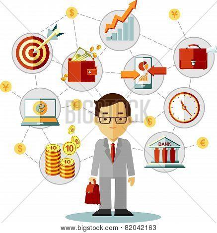Businessman Work Concept