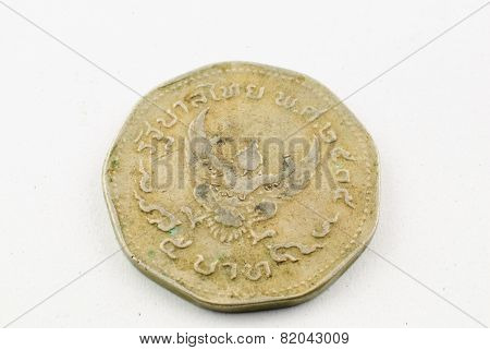 Old Thai Coins 5 Baht Year 1962
