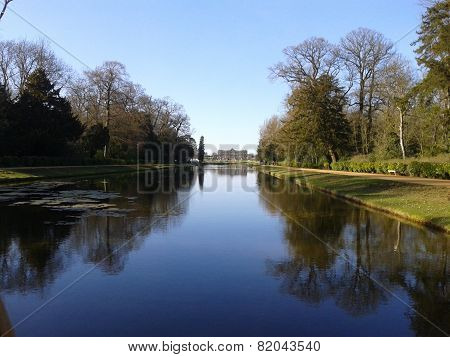 Calm lake at Wrest park