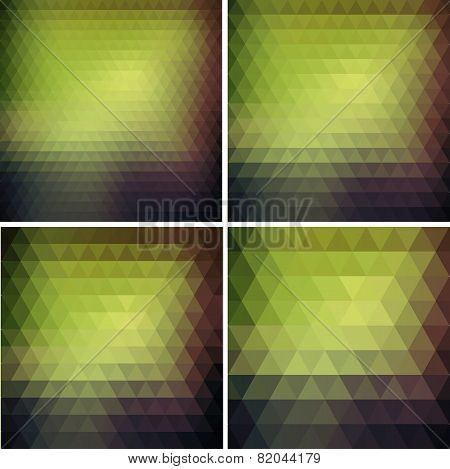Abstract retro triangle  background