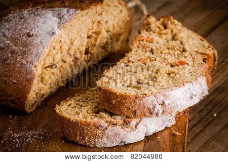 Fresh Rye Bread Closeup