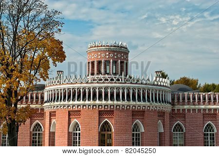 Brick Pavilion In Tsaritsino Park. Moscow. Russia