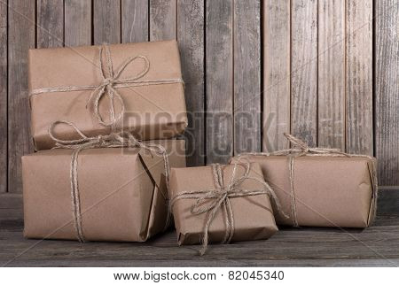 Packages On A Wooden Deck