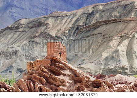 Ruins, Basgo Monastery, Leh Ladakh, Jammu And Kashmir, India