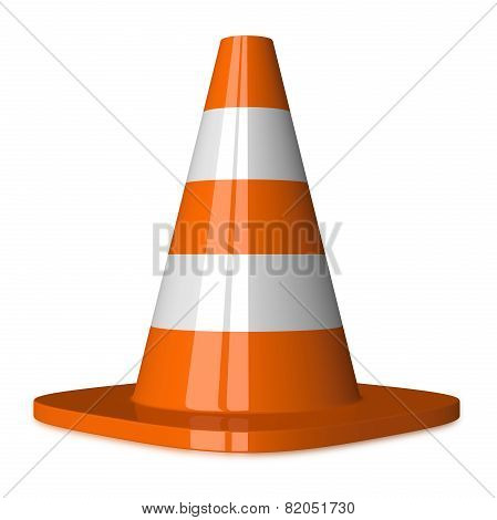 Traffic Cone Isolated On White