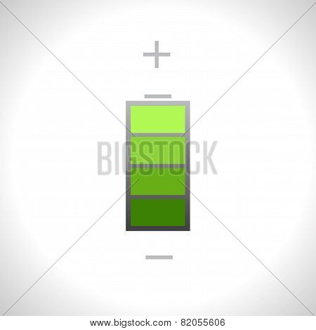 Vector Battery Icon. Eps10