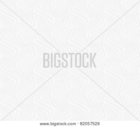 Geometrical Ornament With Embossed Light Gray Wavy Shapes