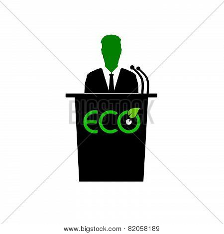 Eco Orator Color Vector