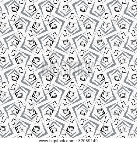 Repeating Ornament Gray Small Rough Shapes