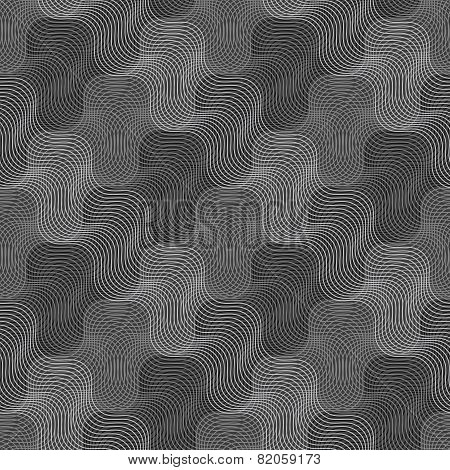 Repeating Ornament Intersecting Light And Dark Gray Texture