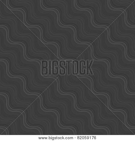 Repeating Ornament Many Diagonal Wavy Lines Gray Texture