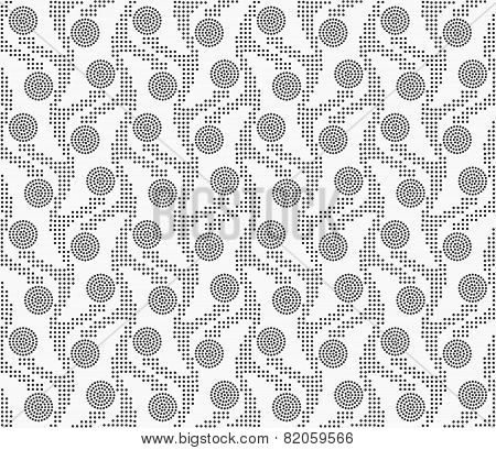 Repeating Ornament Vertical Dotted Stripes With Circles