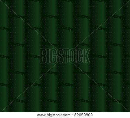 Textured Ornament With Dark Green Bamboo