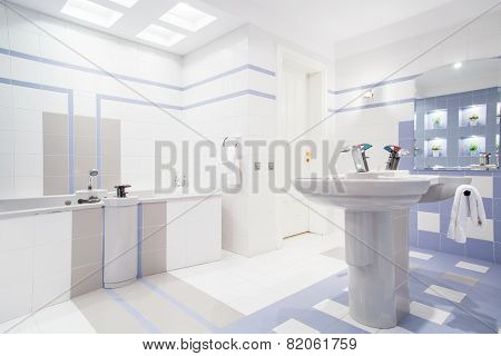 Spacious Bright Bathroom
