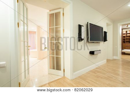 Tv On The Wall Inside House