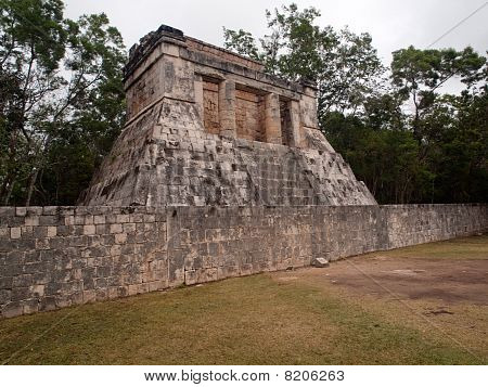 A Small Pyramid In Chichen Itza