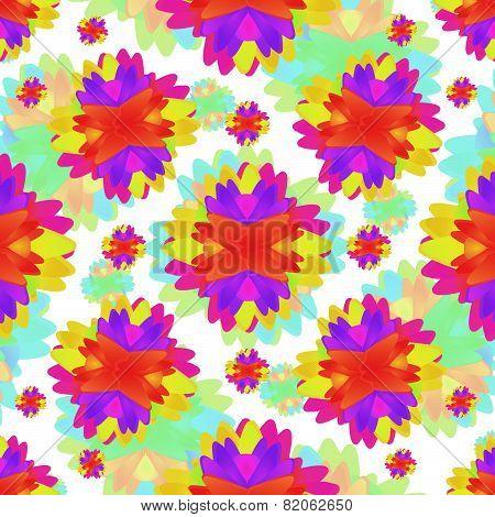 Geometric Floral Motif Modern Pattern