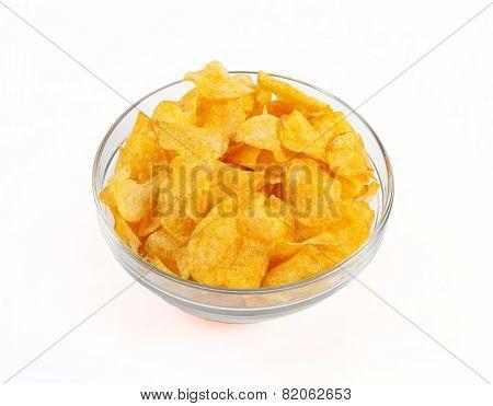 Chips Bowl White Background