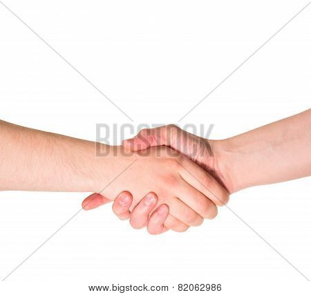 Handshake hand gesture isolated