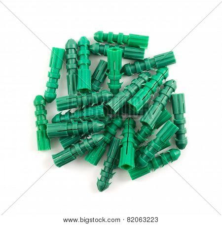 Plastic dowel pin pile isolated
