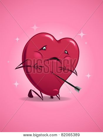 Valentine Wounded Heart.