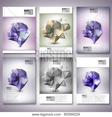 Abstract dimensional polygonal geometric background. Brochure, flyer or report for business, templat