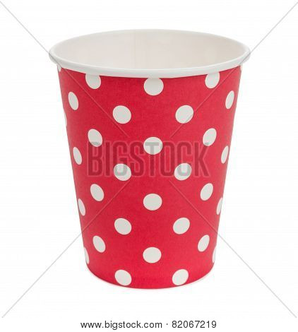 Eco Paper Cups In Red White Point