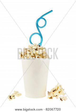 Cup full of popcorn
