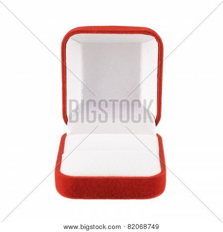 Red velvet box isolated