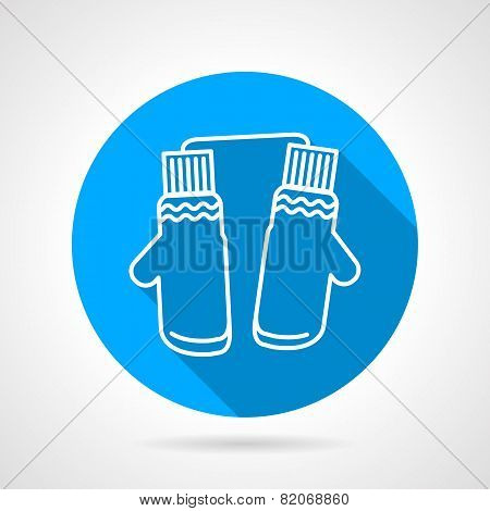 Mittens pair flat vector icon