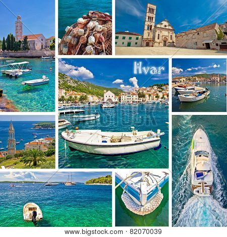Hvar Island Tourist Destination Collage