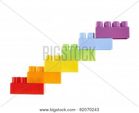 Symbolic stairway made of toy bricks