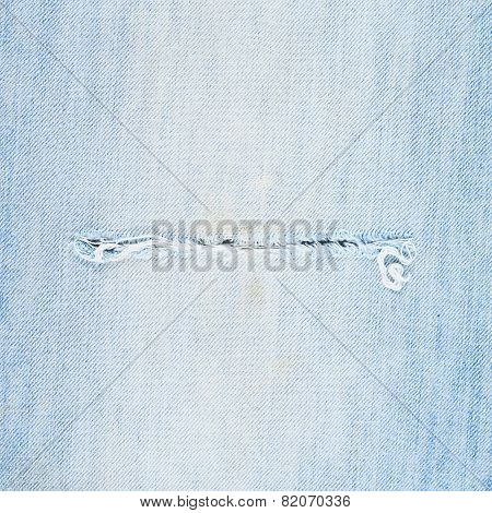 Light blue denim jeans fragment