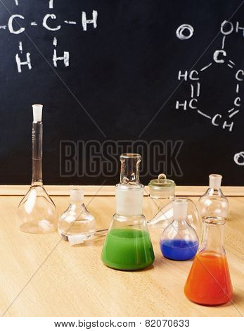 Chemistry tubes and vessels composition