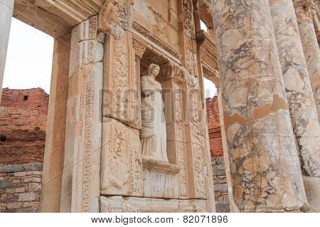 Celsus Library in Ephesus, Izmir, Turkey.