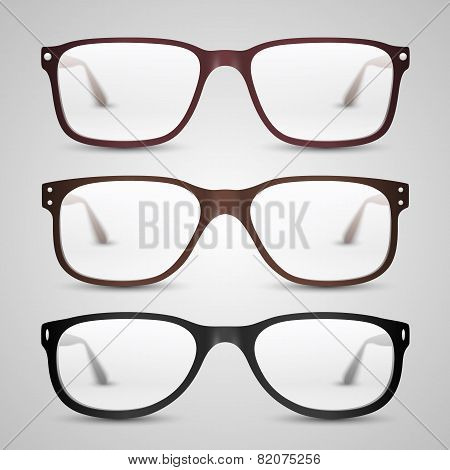 Transparent glasses. Vector