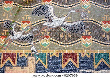 Storks mosaic
