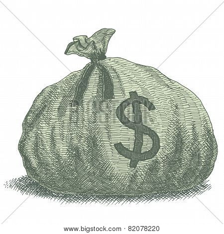Money Bag Illustration