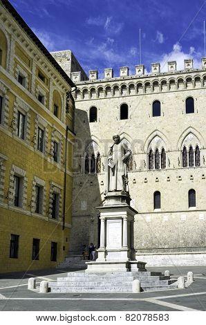 Salimbeni Square, Siena. Color image
