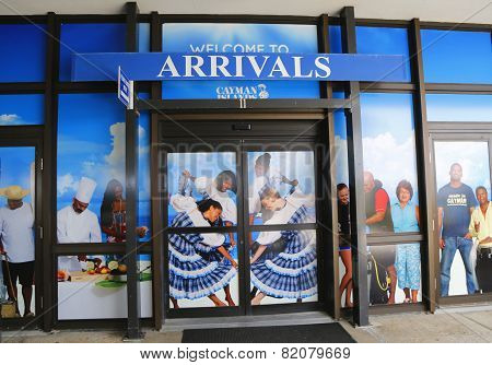 Arrival hall at Owen Roberts International Airport at Grand Cayman