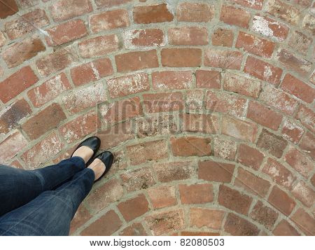 standing on the bricks