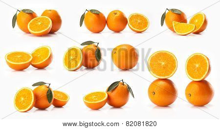 Composite of big oranges