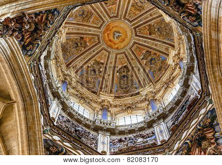 Stone Dome Holy Spirit Statues New Salamanca Cathedral Spain