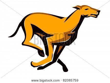 Greyhound Dog Racing Running Retro