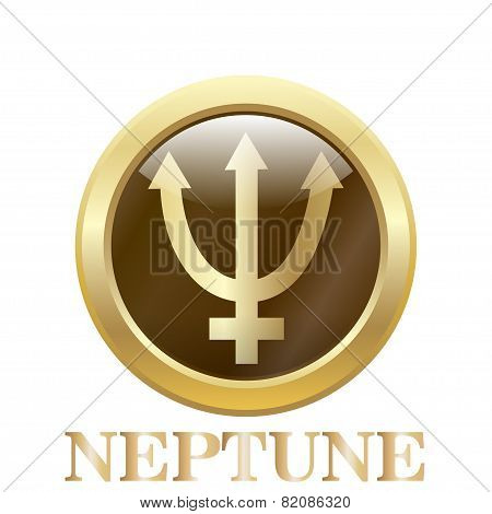 Neptune. Vector Illustration.