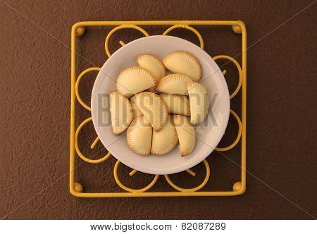 Thai Dessert In White Ceramic Plate