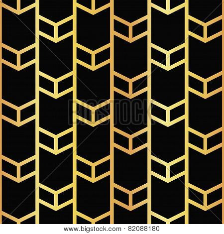 art deco golden seamless pattern